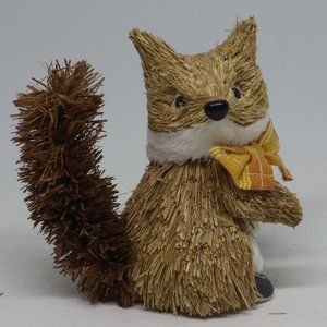 """Pier 1 Straw Fox 5""""Long by 5"""" Tall by 3"""" Wide"""
